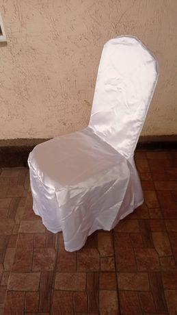 Чехлы на стулья белые.