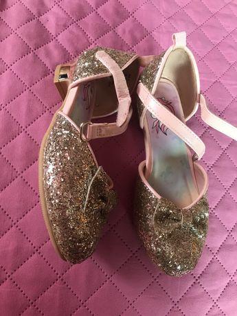 Pantofiori H&M 27, sclipici, aurii