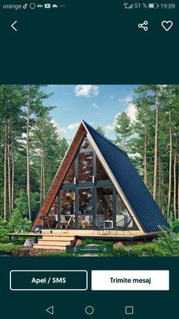 Vând cabane din lemn stil A