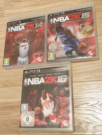 Pachet 3 jocuri NBA PS3: 2K14 + 2K15 + 2K16, playstation 3