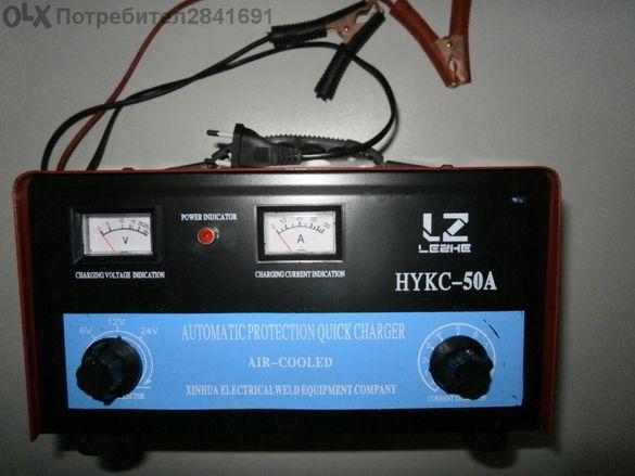 Зарядно за акумулатор на 6,12 и 24 Волта.