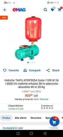 Hidrofor Taifu putere 40m absorbție