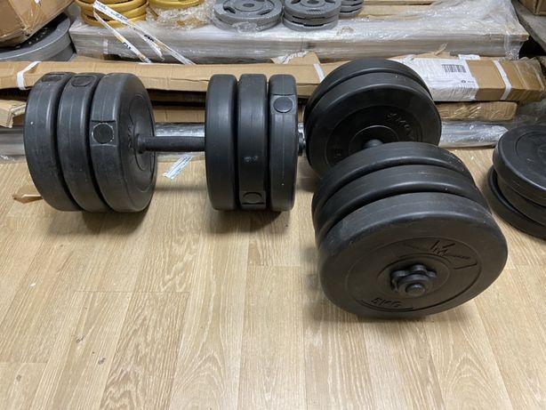 Gantere reglabile noi set 64 kg. Ambele. 32+32=64 kg made in Germany