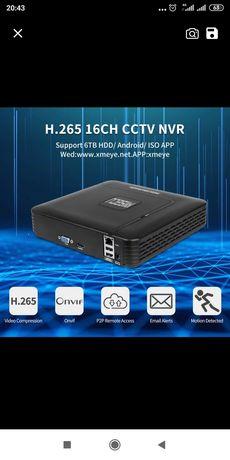 Видеорегистратор NVR IP, цифровой сетевой 16 канальный, H265,H264. 5MP