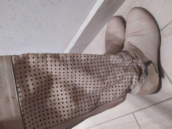 Естествена кожа летни ботуши 37