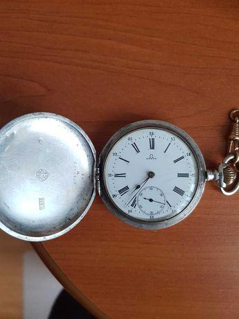 Ceas Omega cu capace din argint, cu 3 capace