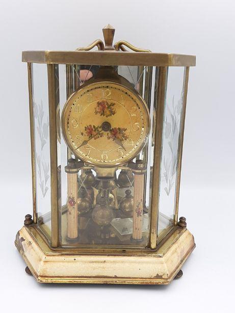 De colectie! Ceas vechi de semineu Germania anii 1900 bronz+cristal