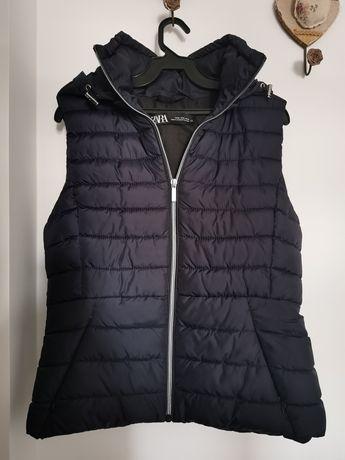 Vesta Zara bleumarin cu gluga noua