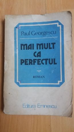 Vand carte roman Mai mult ca perfectul