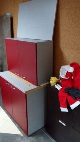 Кухненски шкафчета 4бр. комплект с плот и гръб 1м ширина