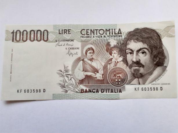 10 Bancnote 100000 lire 1983