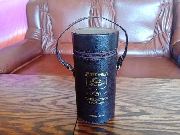 Колекционерска Кожена Кутия От 15 Год. Уиски