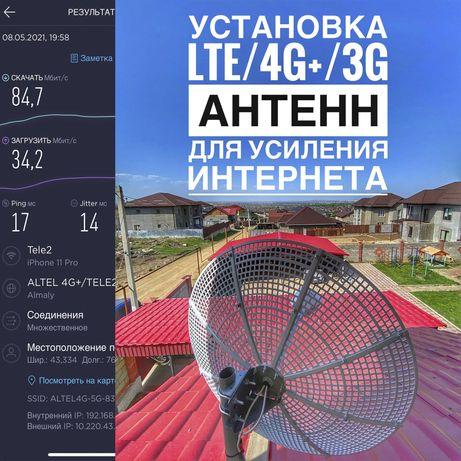 Установка, настройка 4G/3G антенн для усиления интернета в любой район