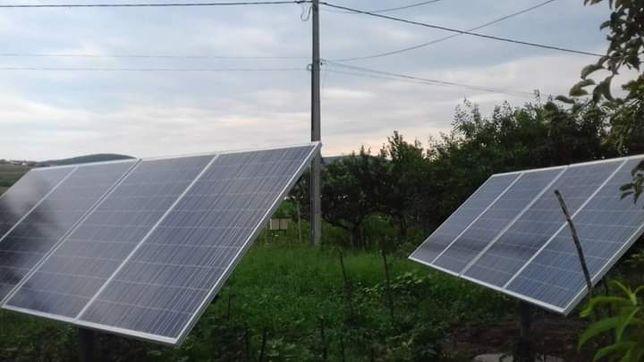 sistem energetic cu panouri solare complet.