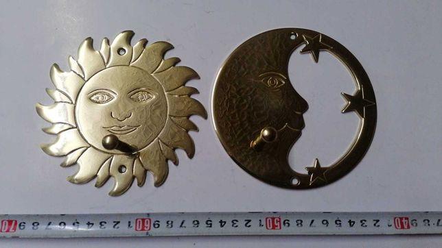 cuier bronz, soarele si luna
