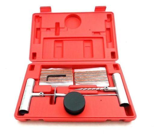 Авариен Ремонтен комплект за гуми с шило и фитили в кутия, Метален