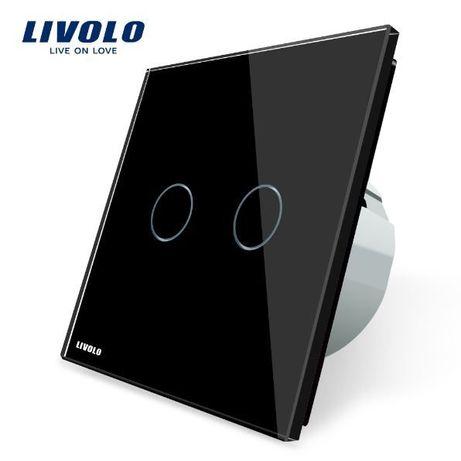 Întrerupător touch screen dublu negru