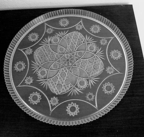 Ретро табла/поднос от50-те години и малка чинийка от костен порцелан