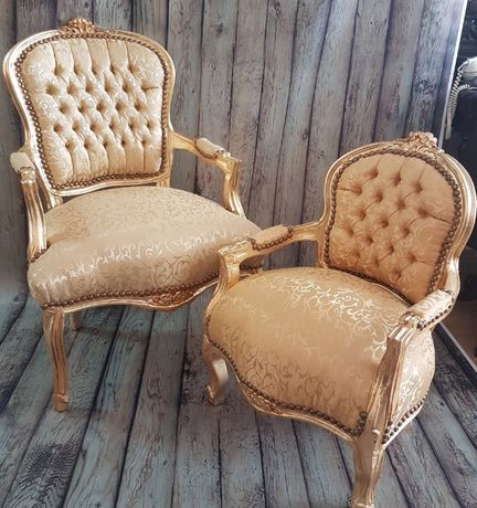 Кресло барок голд