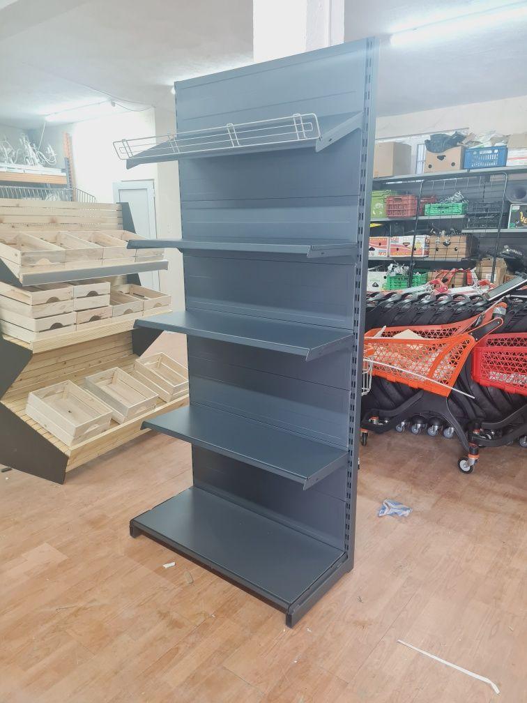 Стелаж крайстенен за магазин -  НОВ - графит