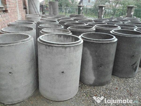 Tuburi beton armate.capac, pentru fantana , fosa , transport si montaj