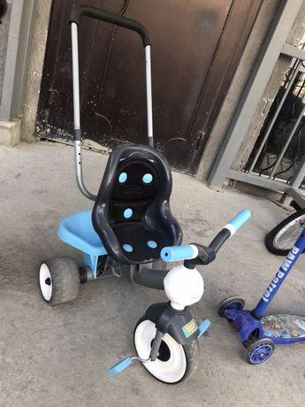 Велосипед трехколесный и самокат