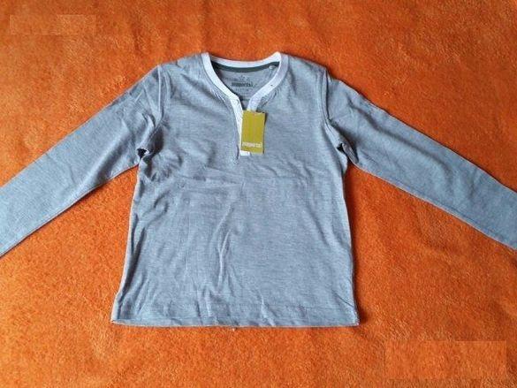 Нова сива блуза с дълъг ръкав за момче на Peppets - 6-8 год - 122-128