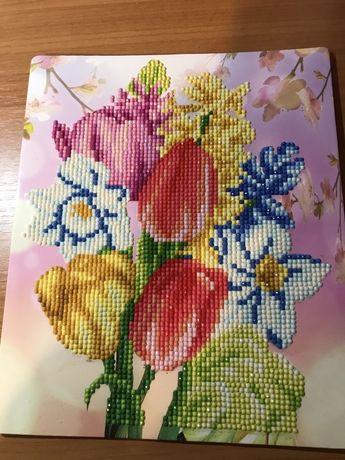 Vand tablou cu flori hand made