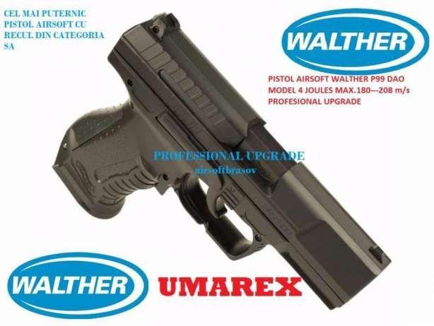 Pistol Airsoft Walther P99 6mm, 4,jouli upgradat max.