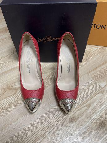 Pantofi Lesilla din piele si cu metal in fata