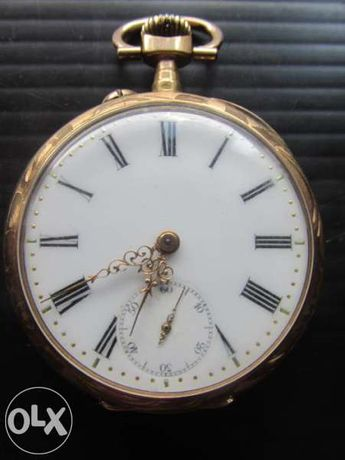 златен джобен часовник