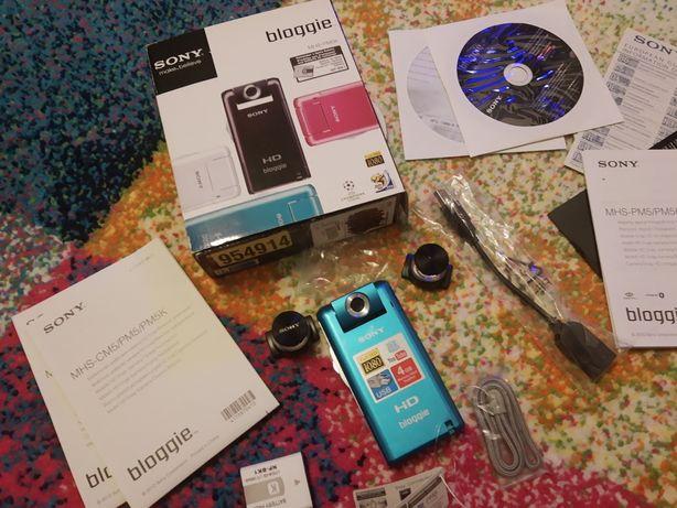 SONY Bloggie MHS-PM5 1080p Full HD, video 360, nou la cutie, 2 baterii