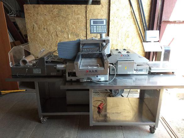Намаление! Автоматична нарязваща и опаковаща машина S.A.M. Kuchler
