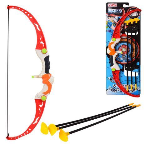 Игрушечный детский лук со стрелами на присосках.