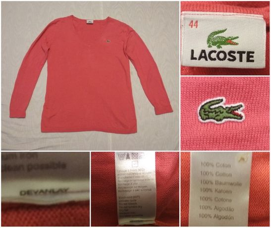 Pulover LACOSTE dama marimea 44/XL fete femei roz dama bluza pulover