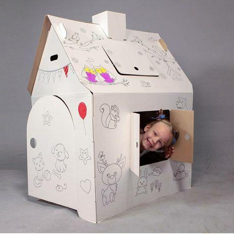 Дом, картонный домик, дом картонный, детский домик