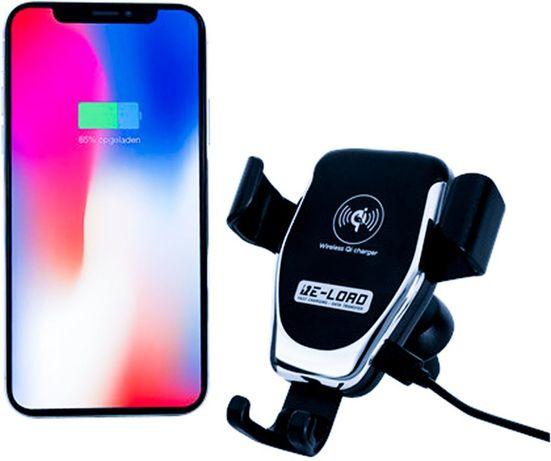 Стойка за смартфон за кола с безжично бързо зарядно Qi, 10 W