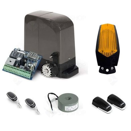 Kit automatizare poarta culisanta Motorline KIT BRAVO524, 500 Kg, 7 m,