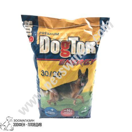 DogTor Energy 15кг - Храна за Кучета с органичен антиоксидант и билки