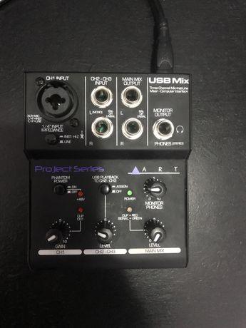 Звуковая карта аналоговый микшер art usb mix 3