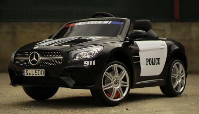 Masinuta electrica Politie Mercedes-Benz SL500 90W 12V Bluetooth Negru