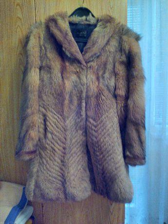 Макси кожено палто