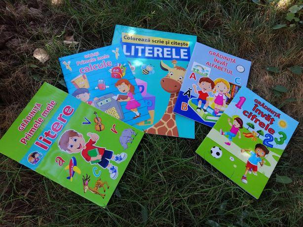 Set 5 cărți educative pregătire grădiniță 35 ron