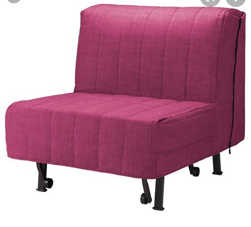 Кресло-кровать ЛИКСЕЛЕ Шифтебу бордовый ИКЕА, I