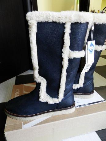 нови зимни ботуши zara №36, естествена кожа