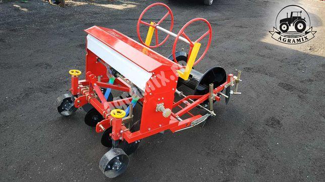 Mașina de bilonat 1 rând cu buncăr de îngrășaminte nou Agramix
