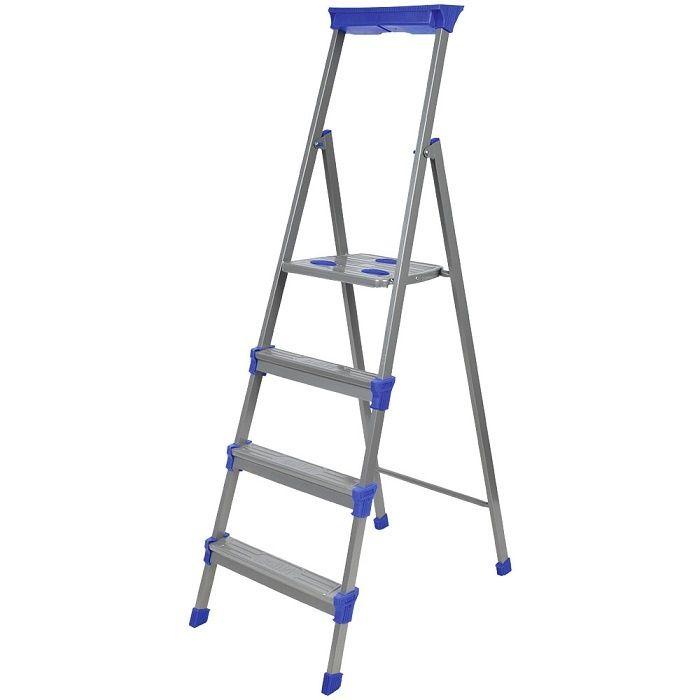 Лестница - стремянка металлическая широкие 4 ступени Nika (Ника) СМ4