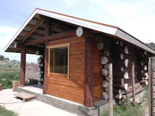 Новая кедровая баня на Восточном.