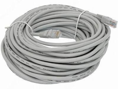 Патчкорд (сетевой кабель) 30 метров новый в упаковке.