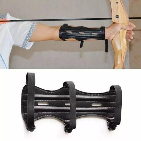 Kрага и ръкавица с три пръста за стрелба с лък
